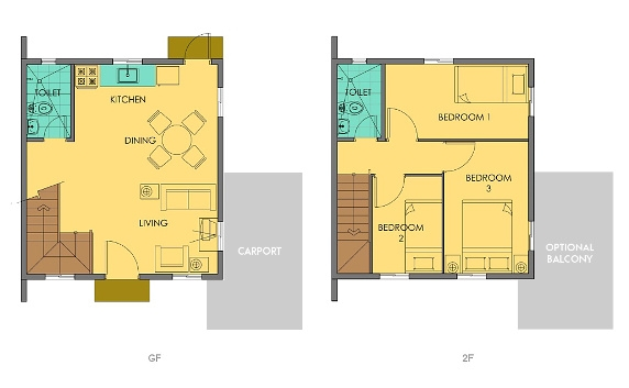 Cara Floor Plan House and Lot in Vista City