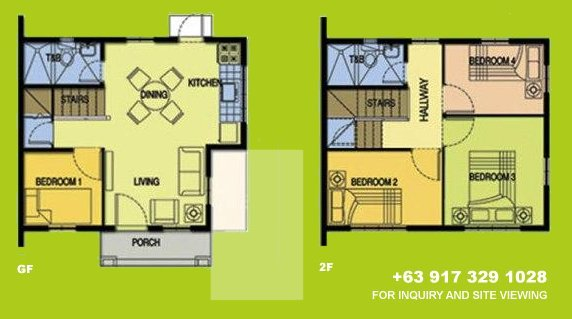 Carina Floor Plan House and Lot in Vista City