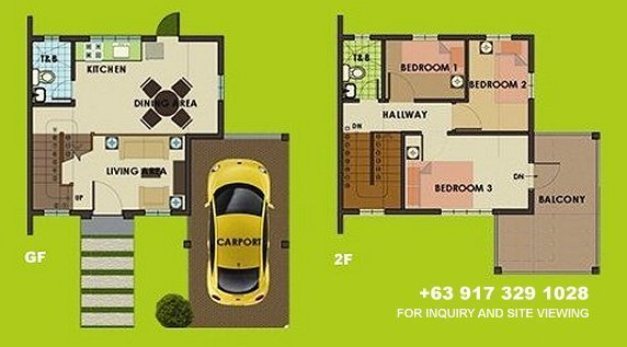 Carmina Uphill Floor Plan House and Lot in Vista City
