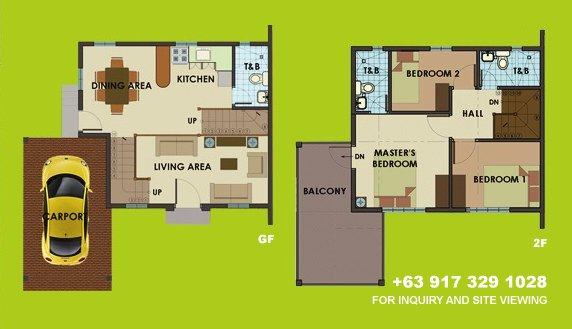 Dorina Uphill Floor Plan House and Lot in Vista City