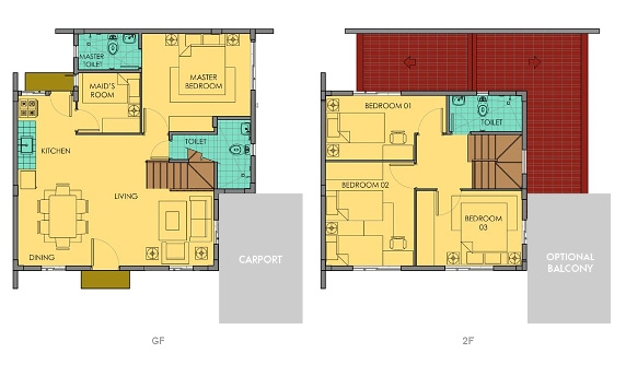 Ella Floor Plan House and Lot in Vista City