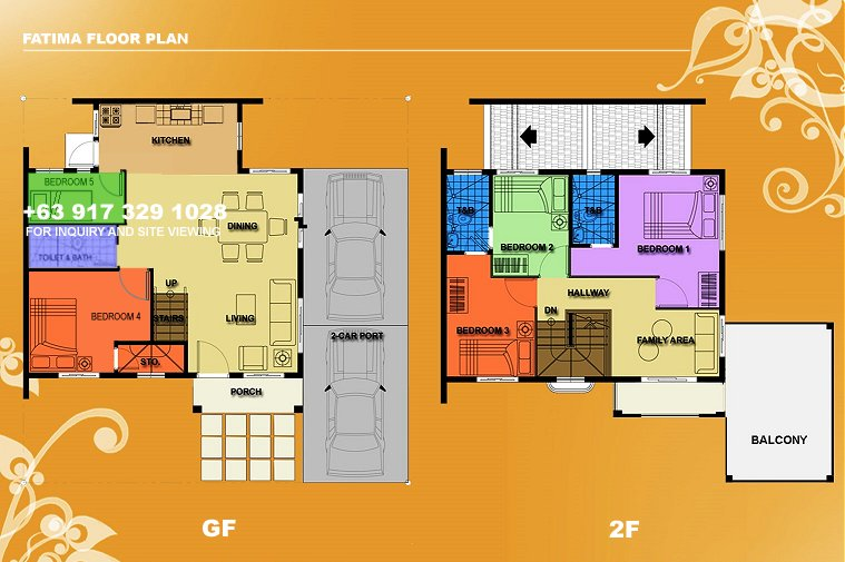 Fatima Floor Plan House and Lot in Vista City