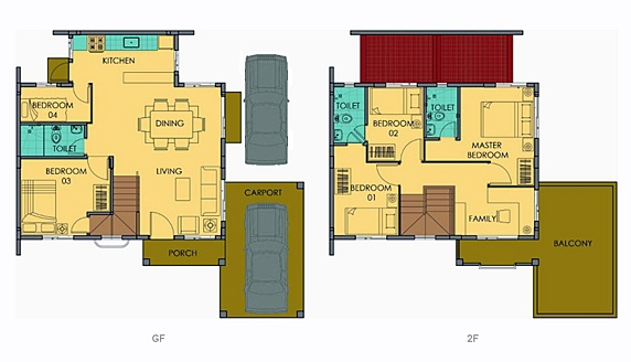 Freya Floor Plan House and Lot in Vista City