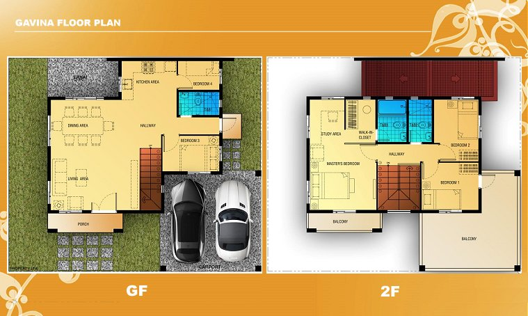 Gavina Floor Plan House and Lot in Vista City