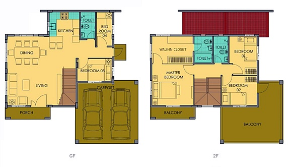 Greta Floor Plan House and Lot in Vista City