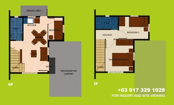 Mara Floor Plan House and Lot in Vista City