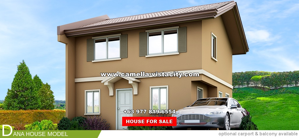 Dana Camella Vista City House and Lot for Sale in Daang Hari Philippines