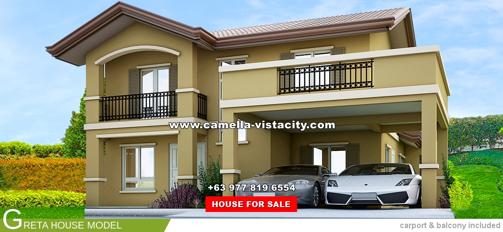 Greta Camella Vista City House and Lot for Sale in Daang Hari Philippines