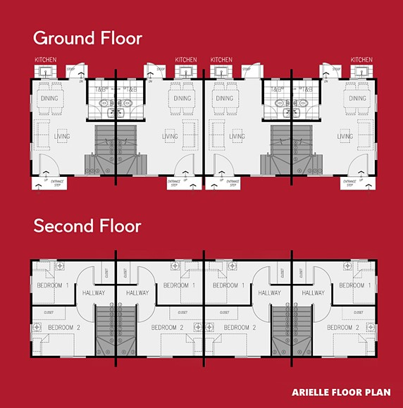 Arielle Floor Plan House and Lot in Vista City