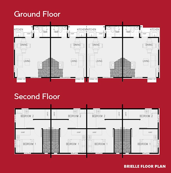 Brielle Floor Plan House and Lot in Vista City
