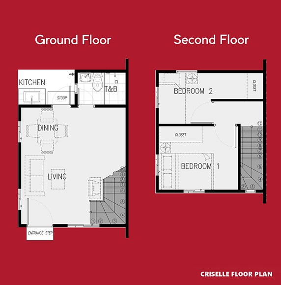 Criselle Floor Plan House and Lot in Vista City
