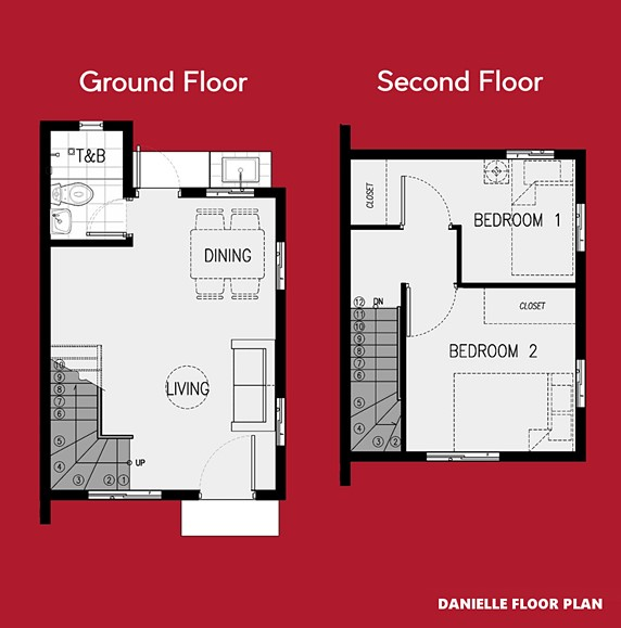 Danielle Floor Plan House and Lot in Vista City