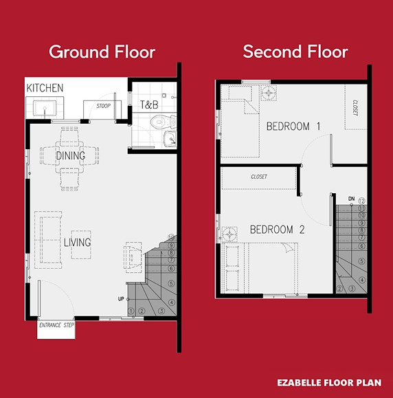 Ezabelle Floor Plan House and Lot in Vista City
